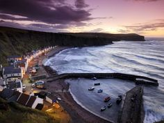 Shot of Pennan from National Geographic. Pennan is in NE Scotland and was the location for the film 'Local Hero'.