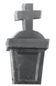 Haunted Tombstone PNG Clipart Image