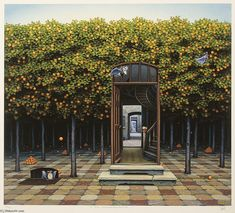 """Orangeraie (2)"" de Jacek Yerka"