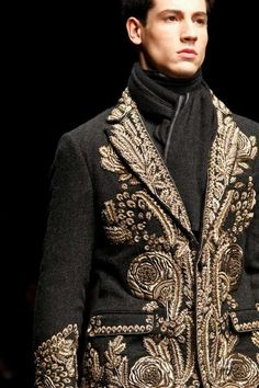 The Dolce & Gabbana FW13 Men Collection Brings Back Middle-Age Glamor #mensfashion #topfashiontrends