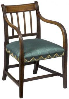 SWC-Mahogany-English-Regency-Armchair-c-1810