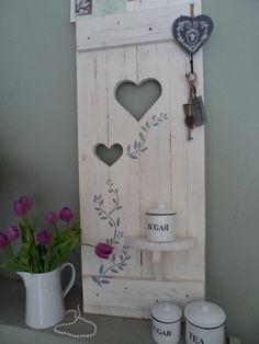 ♥Deko Fensterladen♥ SHABBY mit Regal ♥Ranke von SHABBY ♥HOME H&S auf DaWanda.com