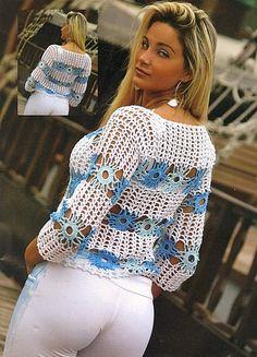 Captivating Crochet a Bodycon Dress Top Ideas. Dazzling Crochet a Bodycon Dress Top Ideas. T-shirt Au Crochet, Cardigan Au Crochet, Beau Crochet, Pull Crochet, Mode Crochet, Crochet Shirt, Crochet Jacket, Crochet Woman, Crochet Gratis
