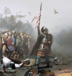 Dux Bellorum cover. Romano-british warriors by José Daniel Cabrera Peña.