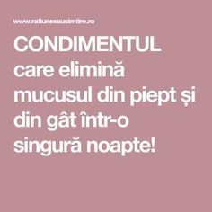 CONDIMENTUL care elimină mucusul din piept și din gât într-o singură noapte! Good To Know, Home Remedies, Health And Beauty, Health Fitness, Healthy Recipes, Sport, Vegans, Apothecary, Projects