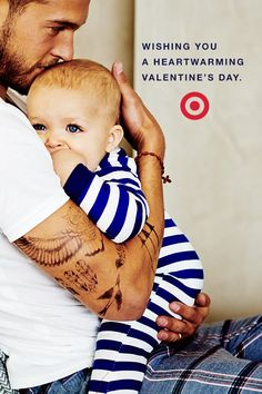 You change a mean dirty diaper, make your little guy laugh after he takes a tumble and play airplane like no one else can. Dad, you're the greatest. Happy Valentine's Day!