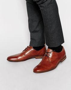 Derby-Schuhe von Aldo Poliertes Leder Schnürung schmale Zehenpartie mit geeignetem Pflegemittel behandeln Obermaterial aus 100% echtem Leder