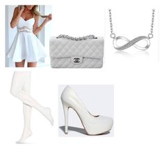 """""""Snow"""" by bearoo1 on Polyvore featuring Hue, Qupid and Chanel"""