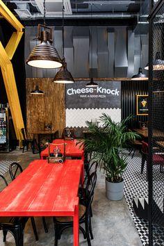 Pizzeria Design, Small Restaurant Design, Small Cafe Design, Bar Interior Design, Restaurant Interior Design, Cafe Interior, Lightroom, Adobe Photoshop, Sport Bar Design