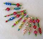 Christmas ornaments from vintage beads
