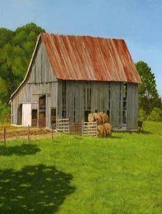 Old Barn Rusty Roof
