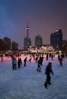Ice skating in Toronto, Ontario, Canada