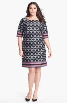 d8f26d0118 Eliza J Geometric Print Shift Dress (Plus Size) (Online Only) available at