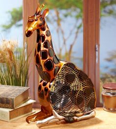Deco Breeze DecoBreeze Animals/Insects Figurine Fan from Giraffe Collection in Multi Finish, inches, Brown, Black Safari Home Decor, Safari Decorations, Giraffe Decor, Giraffe Art, Giraffe Room, Giraffe Pictures, African Elephant, African Safari, Giraffe Figurine
