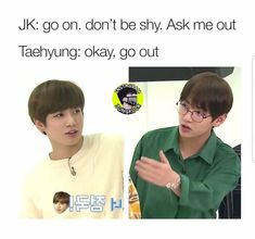 Read from the story TAEKOOK MEMES + PICS by taetifuleffects with 682 reads. Taekook, Bts Taehyung, Bts Bangtan Boy, Bts Mv, Bts Jimin, Vkook Memes, Bts Memes Hilarious, Funny Shit, Funny Stuff