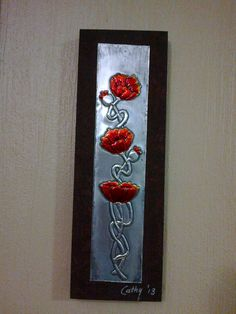 A item I made at a metal embossing course on 14/09/2013