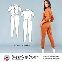 PDF Sewing Patterns for Women Coat Pattern Sewing, Coat Patterns, Dress Sewing Patterns, Clothing Patterns, Beginner Sewing Patterns, Cute Lazy Outfits, Boiler Suit, Jumpsuit Pattern, Sexy Party Dress
