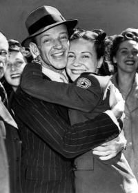Fred Astaire and his sister, Lady Adele Cavendish in London in 1944.