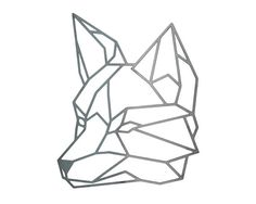 Items similar to Geometric Fox, Steel Geometric Fox, Fox Wall Art, Metal Fox, Steel Art, Steel Fox on Etsy