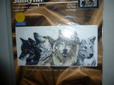 Janlynn The Pack Wolves Cross Stitch Kit by BathoryZ on Etsy, $29.00