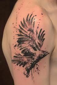 eagle shoulder tattoo idea