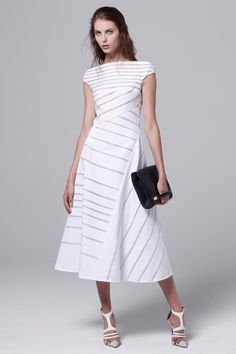 Mendel Resort 2014 Fashion Show Collection: See the complete J. Look 7 Runway Fashion, Fashion Show, Womens Fashion, Trendy Fashion, Fashion Trends, Striped Dress, White Dress, White Fashion, Beautiful Dresses