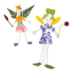 Collect flowers and ferns on a nature walk and turn them into fairy friends!