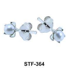 Cute Pearl Silver Stud Earrings. #earpiercing #jewelrypiercing #bodypiercing #piercing