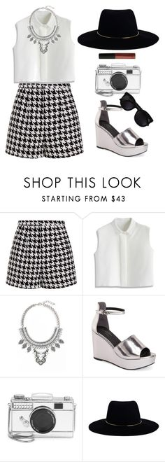 """Young"" by nnaja ❤ liked on Polyvore featuring Emma Cook, Chicwish, Leith, Seychelles, Kate Spade, Karen Walker, Zimmermann, CARGO, black and croptop"