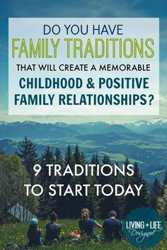 These are great family traditions to start! I think of traditions as big events but these smaller ideas for everything are just as great family traditions to have. Love having a safe word and the dinner conversation starter. Saving!