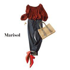 鮮やかなトマトレッド!強い色味も靴の面積なら取り入れやすいかもMarisol ONLINE|女っぷり上々!40代をもっとキレイに。