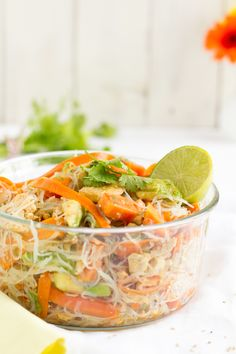 haseimglueck.de Rezept, Glasnudeln Papaya Salat 3