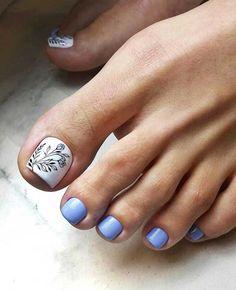 Красивый педикюр 2019-2020: фото, тенденции и новинки дизайна Pedicure Designs, Toe Nail Designs, Gelish Nails, Manicure And Pedicure, Toe Nail Art, Acrylic Nails, Nice Toes, Nail Tattoo, Feet Nails