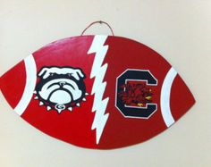 Shop for Handmade georgia bulldogs on Etsy, the place to express your creativity through the buying and selling of handmade and vintage goods. House Divided Football, Braves Baseball, Vintage Marketplace, Atlanta Falcons, Georgia Bulldogs, Lsu, South Carolina, Handmade, Houses