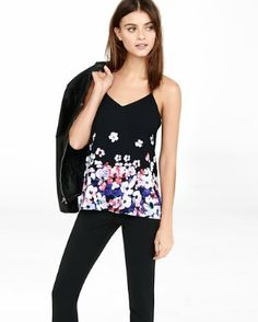 placed floral barcelona cami from EXPRESS