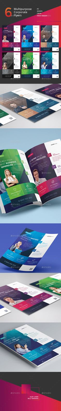 Corporate Flyer - 6 Multipurpose Business Template PSD #design Download: http://graphicriver.net/item/corporate-flyer-6-multipurpose-business-templates-vol-6/13112799?ref=ksioks
