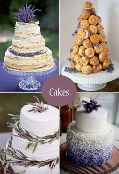 Kate Slaton Dunbar - Petite Reve, Ventura designed the crepe cake in the upper left corner.  They are delicious!!    Crepe cake  croquembouche and lavender