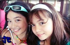 """The Young Kathryn Bernardo and Julia Montes in """"Goin' Bulilit! Child Actresses, Child Actors, Cant Help Falling In Love, Star Magic, Kathryn Bernardo, Filipina, Fashion Models, Tv Series, Best Friends"""