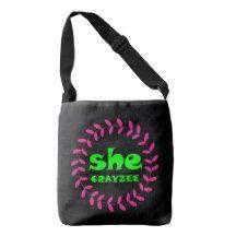 Fluorescent Green She Crayzee Crossbody Bag
