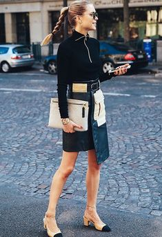 I cannot get enough of this outfit!!!! What to wear to work: Pernille Teisbaek nails fierce-chic #givingmelife