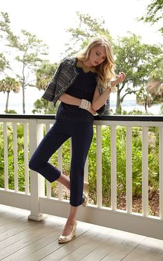 Lilly Pulitzer Fall '13- Kate Sweater, Hagen Jacket, & Luxury Capri