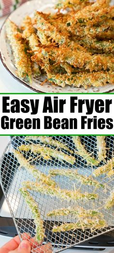 Air fryer green beans with parmesan are a great snack or side dish with any meal. Crispy and crunchy vegetables covered in Panko bread crumbs and seasoning. Top Recipes, Side Dish Recipes, Fall Recipes, Easy Dinner Recipes, Appetizer Recipes, Easy Meals, Cooking Recipes, Oven Recipes, Drink Recipes