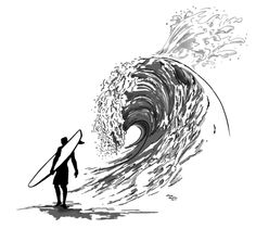 Surfer tattoo. You can't stop the waves but you can learn to surf. You can't choose the problems that come at you in life, but you can choose how to deal with them.