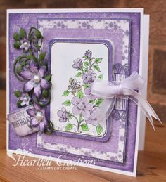 Heartfelt Creations | Purple Birthday Blooms