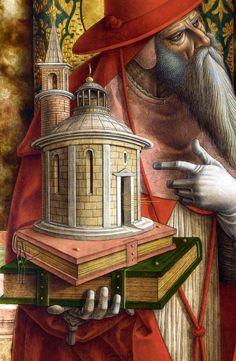 Карло Кривелли (1435–1495) Алтарь из Сан Франческо деи Дзокколанти, Мателика (detail) Мадонна с ласточкой (detail) 1490-95 Национальная галерея, Лондон