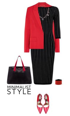 """""""Office outfit: Black - Red"""" by downtownblues ❤ liked on Polyvore"""
