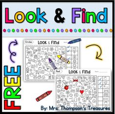 These printable hidden picture pages are perfect for practicing visual discrimination and observation skills! Includes 5 free activities: ⭐ Look & Find Alphabet - Aa ⭐ Look & Find Colors - Red  ⭐ Look & Find Shapes - Triangles  ⭐ Read & Find CVC - Short a words  ⭐ Read & Find - ...