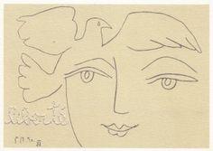 masmot » «Illustration XI» du livre de Paul Éluard «Le visage de la Paix». La vraie liberté