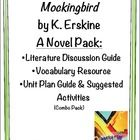 Mockingbird by K. Erskine: COMBO NOVEL PACK (literature and discussion/comprehension resource, vocabulary in context, unit plan with s...ZIP file $