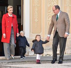 Two-year-old Jacques and Gabriella joined their parentsPrincess Charlene and Prince Albe...